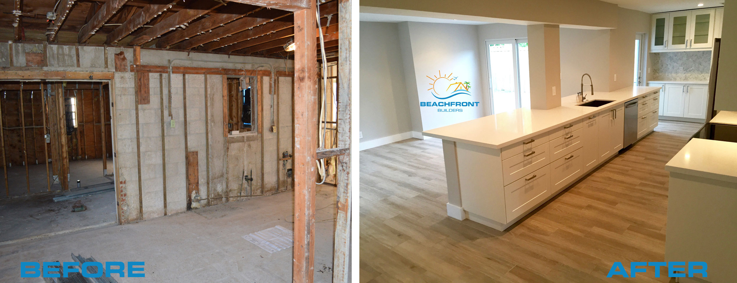 Kitchen Remodel Before And After Wall Removal beach house flip delray beach florida - beachfront builders