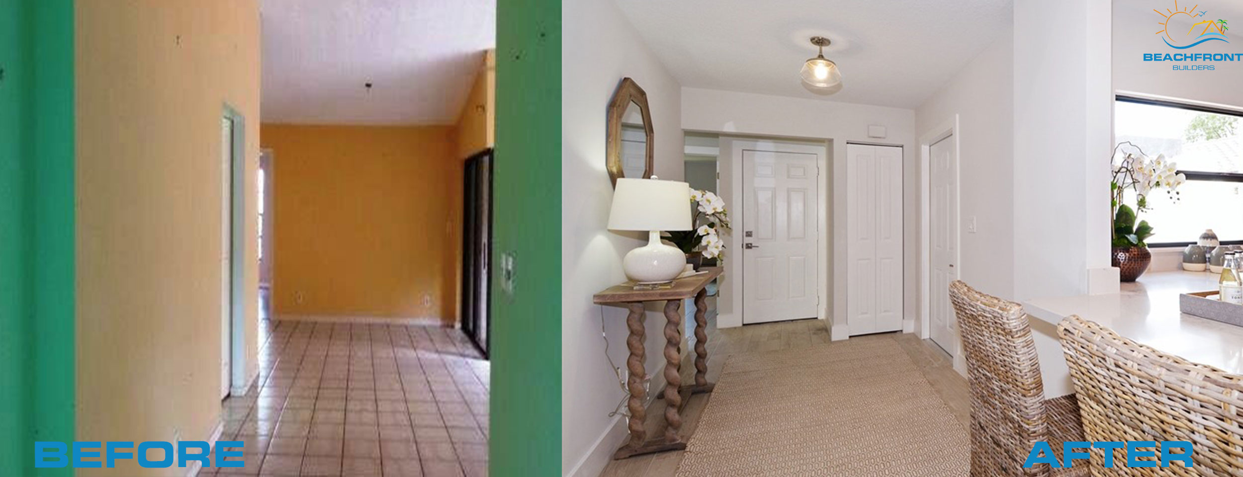 entryway before and afte rdelray beach flip house