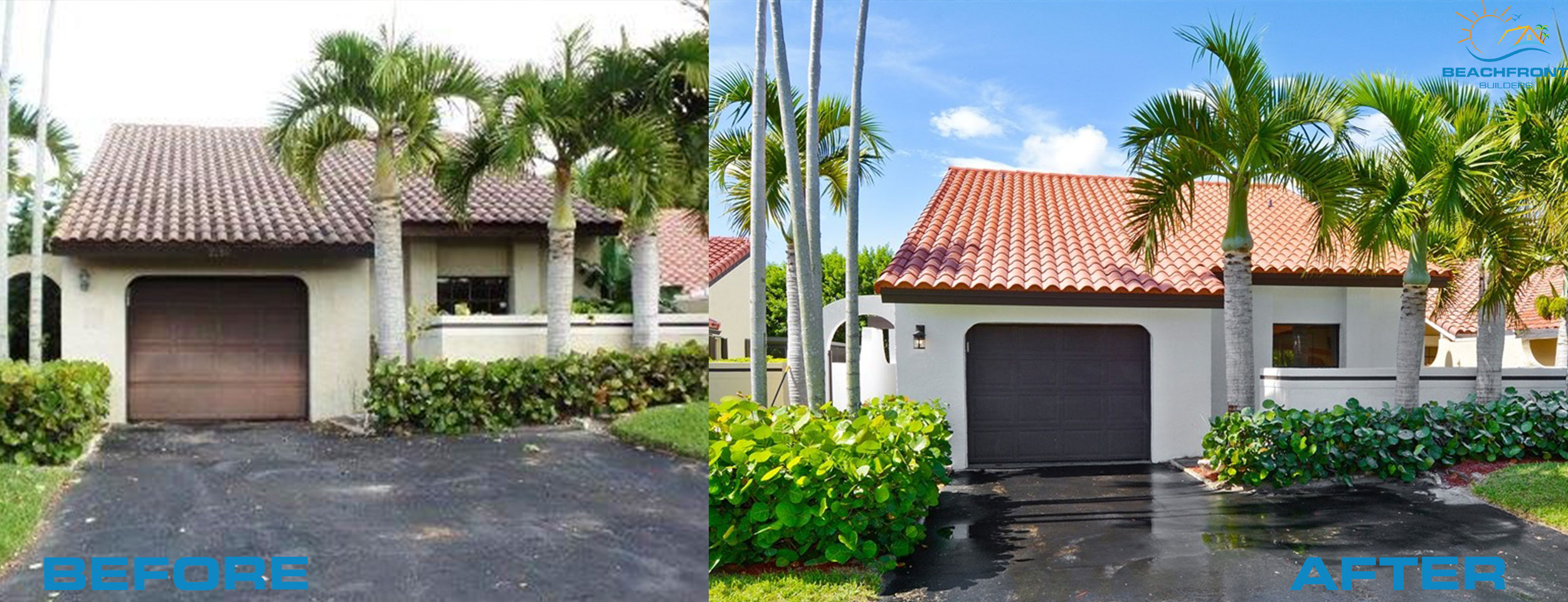 Exterior before and after photos delray beach flip house