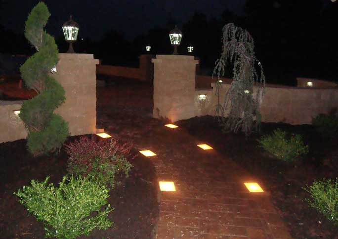 Lamp Walkway Outdoor Lighting 13 Wonderful Concrete Patio