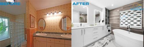 Master Bath Before & After